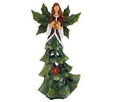 QVC Home Reflections H196383 Angel Tree Luminary With Flameless Candle W Timer