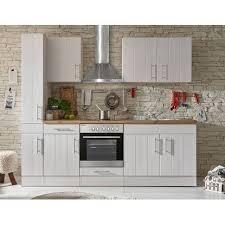 respekta premium küchenzeile landhaus 240 cm lärche weiß