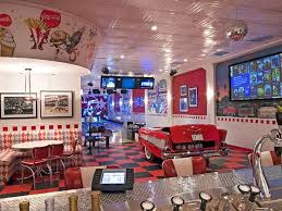 Always Dreamed About Having An Old Fashion Diner Themed Kitchen In The Basement 1950s DinerVintage DinerHome Theater DesignHome