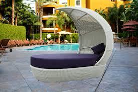 Modern Wicker Outdoor Bed