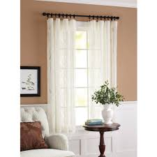 Walmart Better Homes And Gardens Sheer Curtains by Better Homes And Gardens Lace Damask Curtain Panel Cream