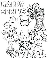 Spring Coloring Pages For Adults Themed Printable Sheets Kindergarten Best