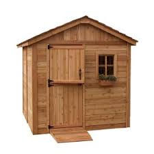 bosmere 6 ft w x 8 ft d wood secure storage shed a053 the home