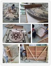 waterjet marble floor design tile mosaic medallion