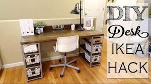 Diy Floating Desk Ikea by Diy Desk Build Ikea Hack Youtube