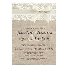 305 Best Burlap And Lace Wedding Invitations Images On Pinterest
