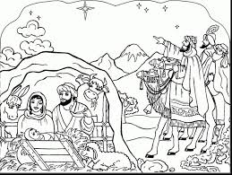 Good Printable Nativity Coloring Pages For Kids With Christmas Adults And