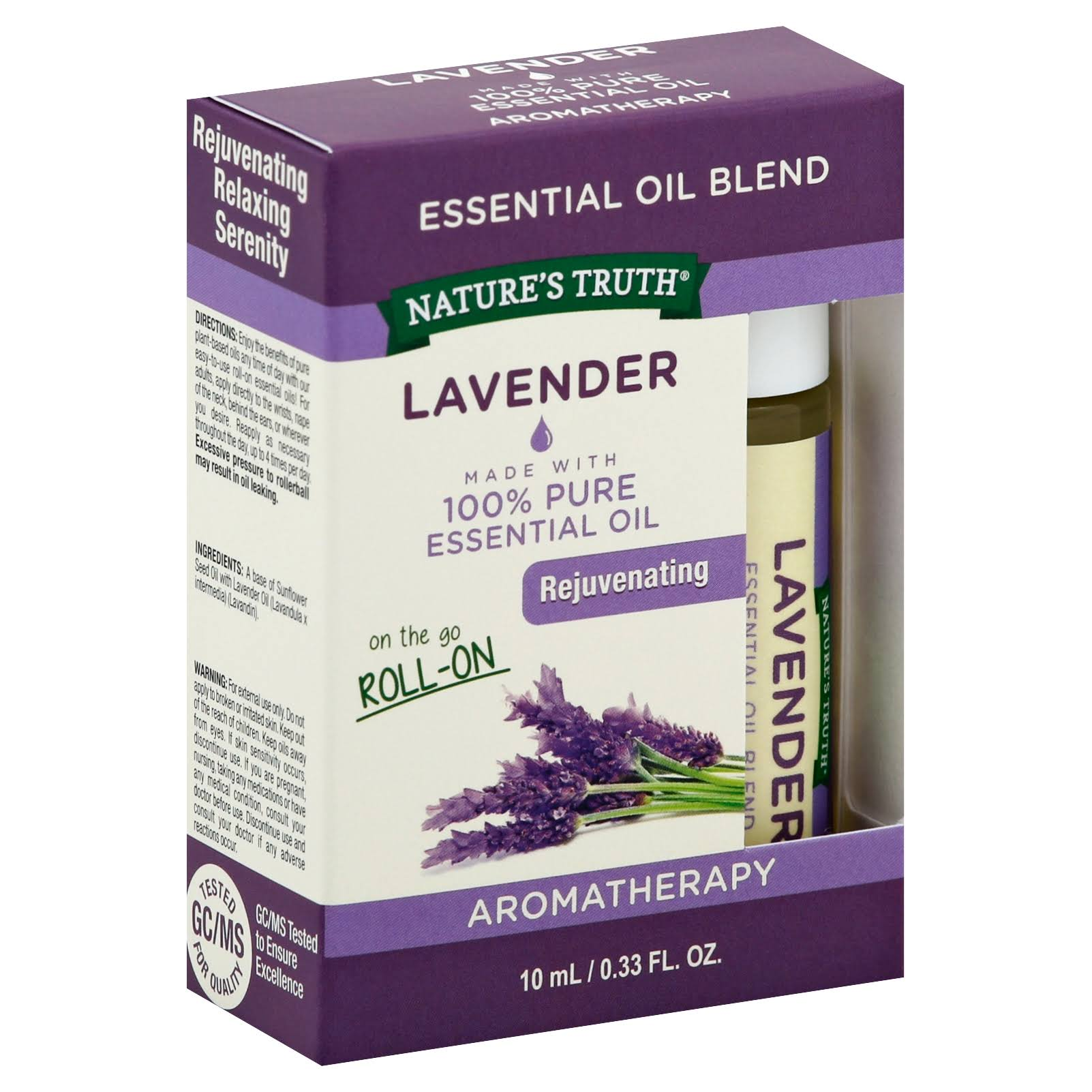Natures Truth Lavender Essential Oil Roll On Blend - 10ml