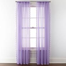 Purple Ruffle Curtain Panel by Home Expressions Delia Ruffle Rod Pocket Sheer Curtain Panel