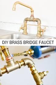 Diy Kitchen Faucet Diy Brass Bridge Faucet Faucets Diy Diy Kitchen Projects