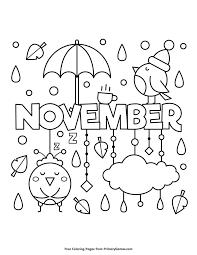 Fall Coloring Page November PagesFree PrintableNovemberFree Printables
