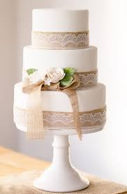 Rustic Lace Wedding Cakes