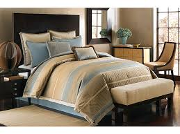 review vince camuto munich comforter set queen blue gold