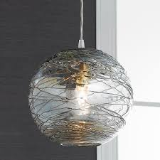 Destinations By Regina Andrew Peacock Lamp by Swirling Glass Globe Mini Pendant Light Mini Pendant Lights