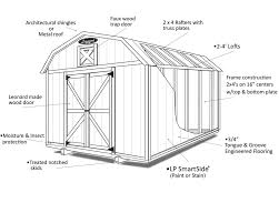6 X 8 Gambrel Shed Plans by Barns And Barn Style Sheds Leonard Buildings U0026 Truck Accessories