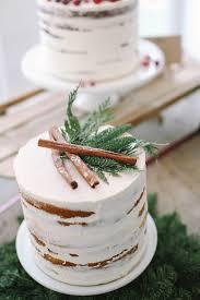 Rustic Winter Minimalist Naked Cakes