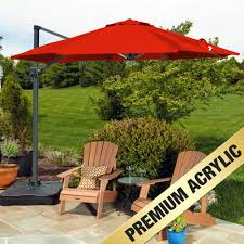 Large Cantilever Patio Umbrella by Supershade Cantilever Umbrella 9ft 10in Diam Base Included