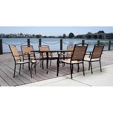 mainstays sand dune 7 piece patio dining set seats 6 walmart com