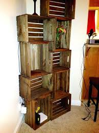 Wooden Milk Crates Michaels As Shelves Best Wood Crate Ideas On Made From Shelving Stained With Vinegar And Steel Wool