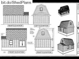 Shed Plans 16x20 Free by G455 Gambrel 16 X 20 Shed Plan Youtube