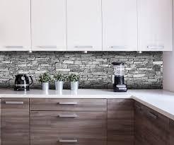 küchenrückwand natursteinmauer grau nischenrückwand spritzschutz fliesenspiegel ersatz deko küche m0472