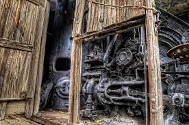 wood and steam boiler photograph by thomas payer