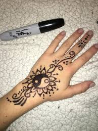 Easy Simple Henna Done With Sharpie