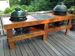 Image Of Outdoor Kitchen Ideas With Green Egg