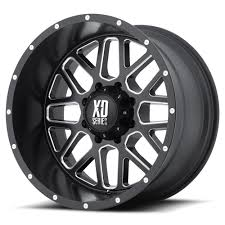 KMC XD-SERIES WHEELS XD820 GRENADE Satin Black Milled Truck & Off ...