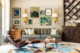 Glamorous Mid Century Modern Living Dining Space