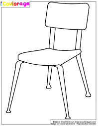 dessiner une chaise coulorage dessin et coloriage de chaise à imprimer