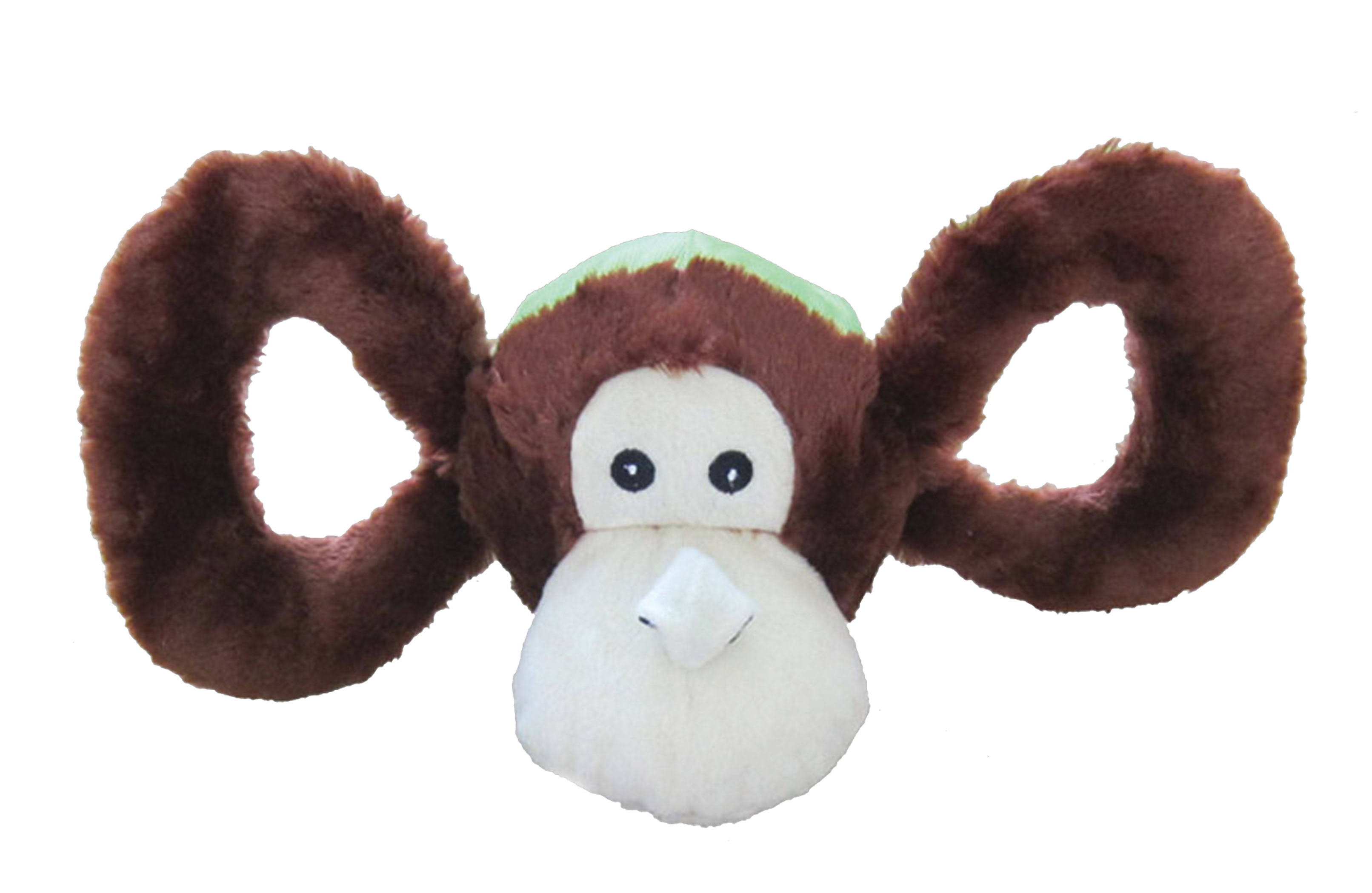 Jolly Pets Tug A Mal Monkey Squeaky Toy for Pets - Small
