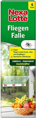 nexa lotte fliegenfalle transparente klebefalle gegen fliegen fruchtfliegen obstfliegen essigfliegen in allen räumen unauffällig am fenster