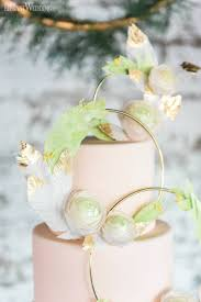 Floral Hoop Wedding Cake