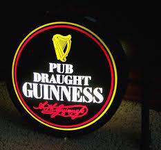 Guinness Pub Draught 2 Sided Illuminated Pub Light Sign