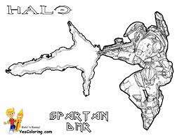From Halo Reach Coloring Pages