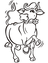 Dancing Cow Coloring Page
