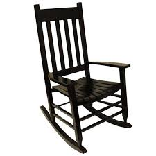 Youth Slat Black Patio Rocking Chair 201SBF RTA The Home Osaki Chair ...