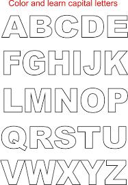 Block Letters Traceable