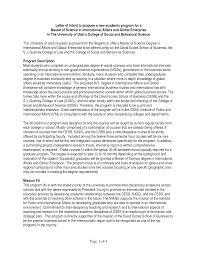 Best Solutions Of Letter Intent Graduate School Application Sample