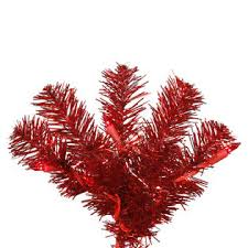 Vickerman 3 Prelit Red Pencil Artificial Christmas Tree With 50 Lights 1