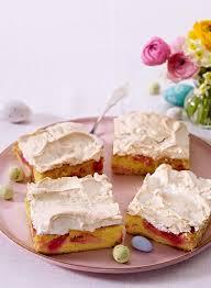 rhabarber baiser kuchen vom blech