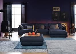 wohnzimmer ganz in blau getaucht wir lieben den edl