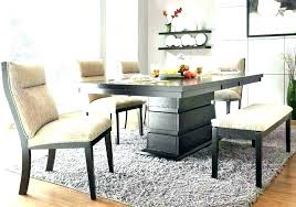 Black Kitchen Table With Bench Small Modern And Set Round