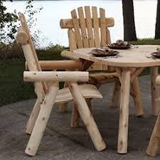 rustic outdoor furniture log wood patio furniture