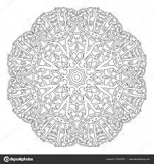 Motif Floral De Mandala De Fleurs Et De Coeurs Pages à Colorier