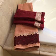 Purple Decorative Towel Sets by Decorative Towel Gift For New Couple Wine And Coral Bathroom
