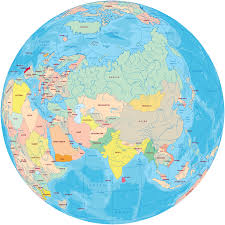 Asia Political Map Throughout World Equator