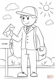 Mail Carrier Coloring Sheet Pages Ideas