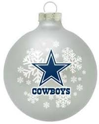 Dallas Cowboys Snowflake Christmas Ornament